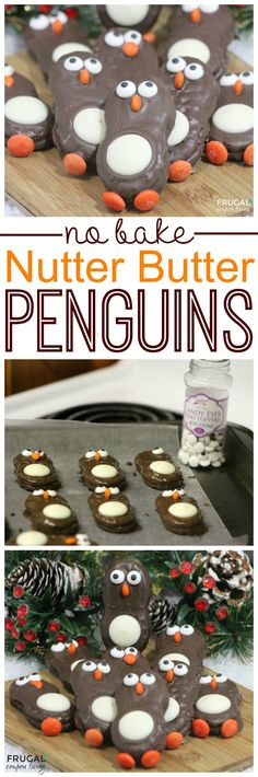 Nutter Butter Penguins – Holiday Kids Food Craft on Frugal Coupon Living. This kids holiday snack idea and dozens more on Frugal Coupon Living. Great Class Party Food Idea.