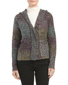 Multi Striped Hooded Sweater