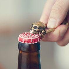 Fancy - Bronze Skull Bottle Opener by Jac Zagoory