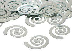 Silver Curly Q Confetti