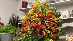 Funeral Floral Arrangements, Large Flower Arrangements, Christmas Floral Arrangements, Flower Centerpieces, Casket Flowers, Funeral Flowers, Flower Shop Decor, Australian Flowers, Cemetery Flowers