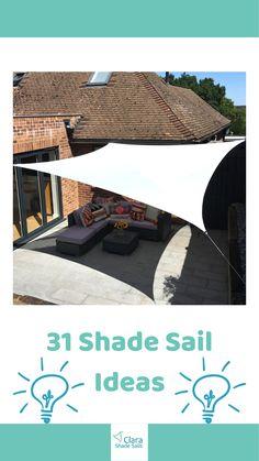 Garden Shade Sail, Garden Sail, Deck Shade, Backyard Shade, Sun Sail Shade, Shade Sails, Fire Pit Backyard, Summer Garden, Outside Umbrellas