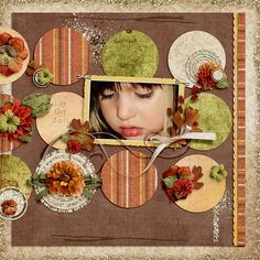 Everything from Autumn Leaves mini with additional paper and elements from Worn Fall, all by Southern Creek Designs; font The Sidekick Kid by Heather Hess; But Wait There's More Template from Bella Gypsy.