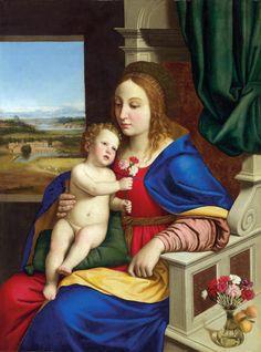Giovan Battista Salvi (called il Sassoferrato) – Madonna del garofalo