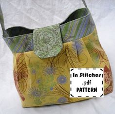 Jamie PDF Purse Pattern-Hobo Shoulder Bag-EASY Sewing Instructions Tutorial. $8.00, via Etsy.