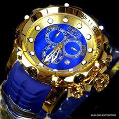 Invicta Reserve Venom Sea Dragon Gen II Gold Plated Swiss Blue MOP Watch New #Invicta #LuxurySportStyles
