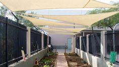 Shade Sails   Private School Garden - Mesa, Arizona