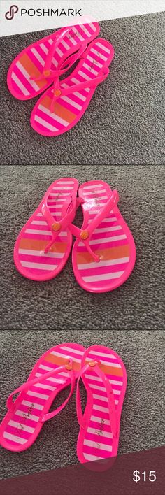Ted baker flip flops Neon pink witch touches of orange ted baker jelly flip flops Ted Baker Shoes Sandals