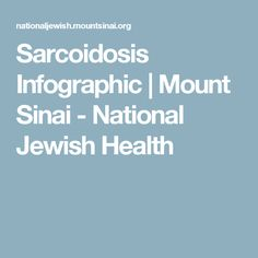 Sarcoidosis Infographic | Mount Sinai - National Jewish Health