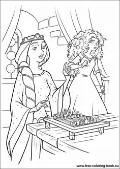 Coloring pages Brave - page 1 - Printable Coloring Pages Online