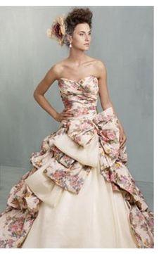 Ian Stuart - Sweetheart A-Line Gown in Silk Blend