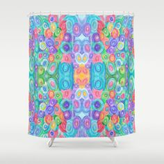 Artistic Shower Curtain  Egg Hunt  by ArtfullyFeathered