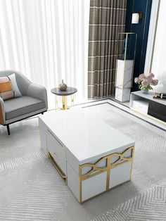 Sofa Bed Design, House Furniture Design, Living Room Sofa Design, Home Room Design, Home Decor Furniture, Home Interior Design, Coffee Table Convert To Dining Table, Convertible Furniture, Convertible Coffee Table