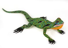 Oaxacan Wood Carvings lizard | Oaxacan Wood Carvings Gallery Luis Pablo Lizard