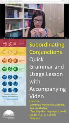 This quick grammar and mechanics lesson and accompanying video on subordinating conjunctions features a few instructional components from Pennington Publishing's Grammar, Mechanics, Spelling, and Vocabulary (Teaching the Language Strand) grades 4, 5, 6, 7, and 8 programs. Click the link to see the lesson and play the video! Time to learn those English grammar rules, mechanics, language conventions, and parts of speech.