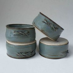 Hey, I found this really awesome Etsy listing at https://www.etsy.com/listing/174450189/in-stock-set-of-4-blue-gray-rustic-soup