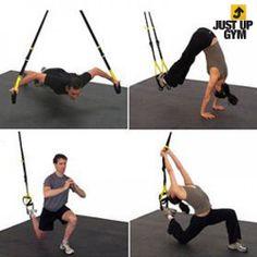 Just Up Gym Tensores para Ejercicios en Suspensión, La Tienda Outlet en Casa. Ejercita todos los tipos de músculos con las cintas de TRX