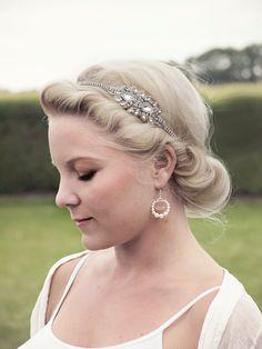 Crystal Bridal Headband Lady Igraine  Art Deco by gadegaarddesign, $99.00