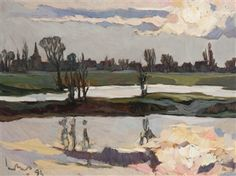 View Sunset opposite Bokhoven By Kees Bol; Oil on board; Access more artwork lots and estimated & realized auction prices on MutualArt. Abstract Landscape Painting, Landscape Paintings, Dutch Artists, Sunset, Portrait, Gallery, Artworks, Miniatures, Oil
