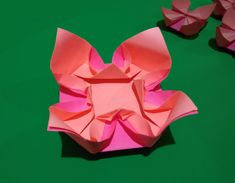 Easy origami flower. Easy and rich paper flower. Ideas for Easter