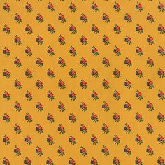 American Jane A La Carte Small Floral on Yellow by TheFabricHive