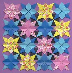 STAR FLOWER QUILT   OrigamiUSA