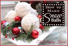 how to make snowball christmas ornaments, christmas decorations, crafts, seasonal holiday decor, How to Make Snowball Christmas Ornaments -- For the Bathroom! Christmas Angels, Winter Christmas, All Things Christmas, Christmas Holidays, Christmas Wreaths, Christmas Ornaments, Ball Ornaments, Christmas Decir, Cheap Ornaments