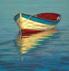 """Old Wooden Dory"" Soft Pastel on Wallis Another reflection piece for my September show. Only a few of these beautiful old row boats le. Pinturas Em Tom Pastel, Soft Pastel Art, Soft Pastels, Soft Pastel Drawings, Soft Colors, Boat Art, Old Boats, Boat Painting, Chalk Pastels"