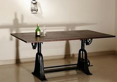 Carlos Modern Adjustable Dining Table 1200