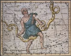 13th sign of the Zodiac: Ophiuchus represents a man wrestling a serpent and was discarded