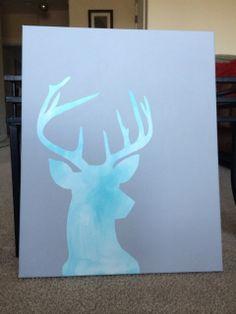 Deer Silhouette Canvas Painting