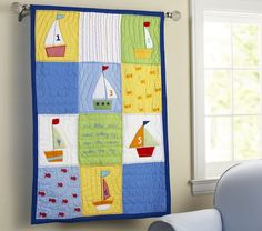 Love this little boat quilt.