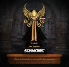 "AND THE SCHQUID FOR A COMEDY SCHMOVIE ABOUT A DRUNKEN VAMPIRE GOES TO... ""Drunkula"" (David Gugenheim) with 10 votes. Congratulations, David! Fangs for another killer title!"
