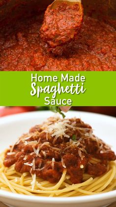 Who says spaghetti night can't be one of the best meals of the week! This sauce can also be made ahead and frozen for later use. Perfect for meatballs spaghetti lasagna meatball subs soups and more. Casserole Spaghetti, Spaghetti Sauce Easy, Best Homemade Spaghetti Sauce, Spagetti Sauce, Spaghetti Lasagna, Spaghetti Recipes, Best Spaghetti Recipe, Turkey Spaghetti, Spaghetti Noodles