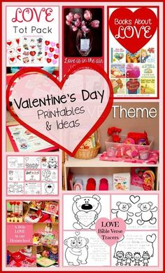 Valentines Day Printables and Ideas ~ lots of free printables and fun ideas for kids!