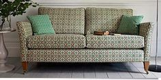 Ashdown Sofa - Small. Traditional comfy petite sofa that would look great in small living rooms. Dimensions: W 187 x D 94 x H 88 cm