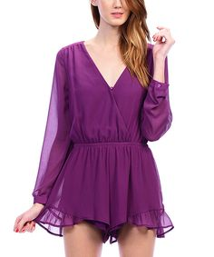e3cfb37419ef Carapace Orchid Ruffle Romper by Carapace  zulilyfinds