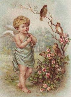Back Porch Graphics: Free Angel Images For Your Art Projects Vintage Greeting Cards, Vintage Ephemera, Vintage Postcards, Victorian Valentines, Vintage Valentines, Images Vintage, Vintage Pictures, Vintage Illustration, Victorian Angels