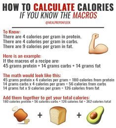 HOW TO CALCULATE CALORIES IF YOU KNOW THE MACROS