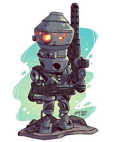 Mini IG-88 assassin droid