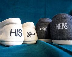 his and hers wedding toms <3 LOVE! I've already decided we're DEFinitely doing this but this is a better pic of them :]