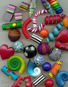 Beads | A variety of polymer clay beads from my book Making … | Flickr