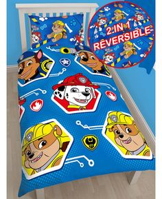 Paw Patrol Single Duvet Cover and Pillowcase Set