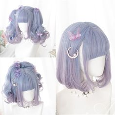 Kawaii Hairstyles, Pretty Hairstyles, Wig Hairstyles, Manga Hair, Anime Hair, Cosplay Hair, Cosplay Wigs, Ropa Color Pastel, Kawaii Wigs