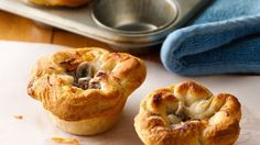 Beef pot pie just got a tasty makeover! These quick and easy mini pies are sure to please.