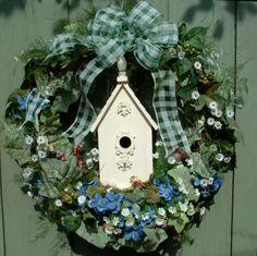 Spring Birdhouse Wreath_2