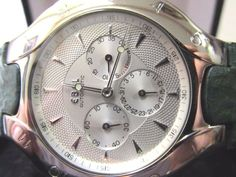 Rare Modern Ebel Lichine Power Reserve Date Stainless Automatic Men's Watch 38mm #Ebel #LuxurySportStyles