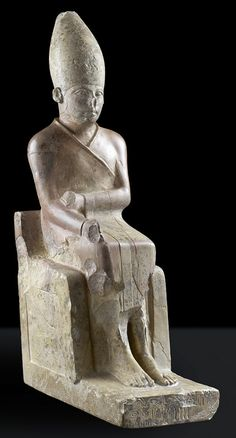 "*King Khasekhem, whose name means ""Who Shines Forth with the Power,"" ruled Egypt in a tumultuous time when the northern part of the country revolted against the control of the southern-based kings. Khasekhem was the last ruler of Dynasty 2, reigning about 2685 B.C. _ Ashmolean Museum, Oxford University.*"
