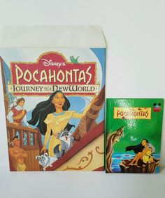 Disney Store Pocahontas Journey to a New World Lithograph & Folder With Book Disney Pocahontas, Disney Parks, Disney Movies, Journey, World, Books, Kids, Store, Party