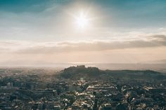 Sunset over the Athens #4 by Walking Blonde on Creative Market